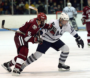 Christopher Higgins posted 72 points in 55 games at Yale from 2001 to 2003 (photo: Yale Athletics).