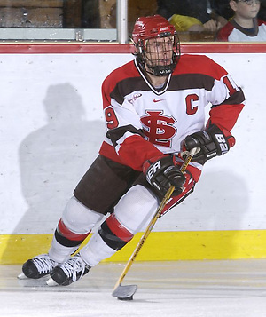 SLU Men's Hockey V. Union.#19  Rich Peverley  2004 (Tara LaFredo)