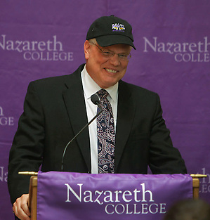 Nazareth coach George Roll (Jamie Germano/Nazareth Athletics)