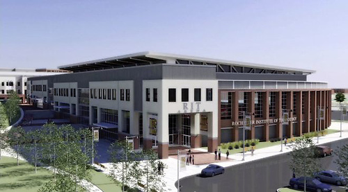 An artist's rendering of a proposed new arena for RIT hockey. (RIT Athletics)