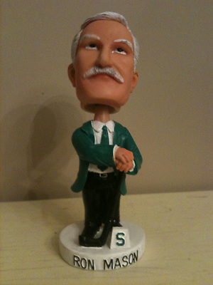 Ron Mason's bobblehead. (Matt Mackinder)