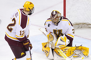16 Mar 12:  The Minnesota Golden Gophers play against the North Dakota Fighting Sioux in the second WCHA Final Five semifinal game at Xcel Energy Center in St. Paul, MN. (Jim Rosvold)