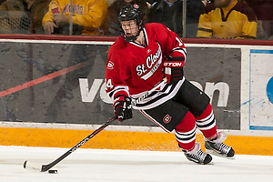 27 Jan 12: Nick Jensen (St. Cloud - 14) The University of Minnesota Golden Gophers defeat the St. Cloud State Huskies 2-1 in a regular season WCHA conference match up at Mariucci Arena in Minneapolis, MN. (Jim Rosvold)