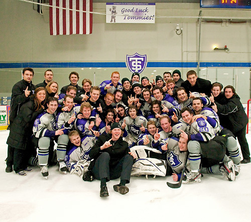 St Thomas wins MIAC regular season title (Greg Smith)