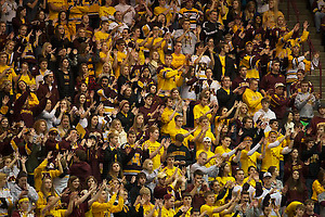 17 Nov 12:  The University of Minnesota Golden Gophers host the University of Wisconsin Badgers in a WCHA conference matchup at Mariucci Arena in Minneapolis, MN. (Jim Rosvold)