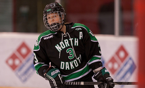 (MichelleKarvinen-3 North Dakota)26  Jan. 13  St. Cloud State University hosts The University of North Dakota in a WCHA  match-up at the National Hockey and Event Center in St. Cloud,MN (BRADLEY K. OLSON)