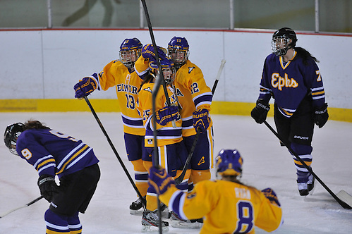 Elmira women celebrate a goal. Photo c/o Elmira Athletics.