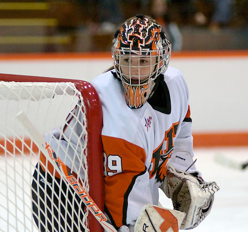 RIT goaltender Ali Binnington finished with 22 saves in a 2-2 tie against Syracuse (Omar Phillips)