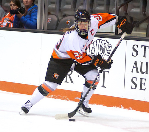 Lindsay Grigg (23 - RIT) had a goal on 5 shots in a 2-1 win over Union College (Omar Phillips)