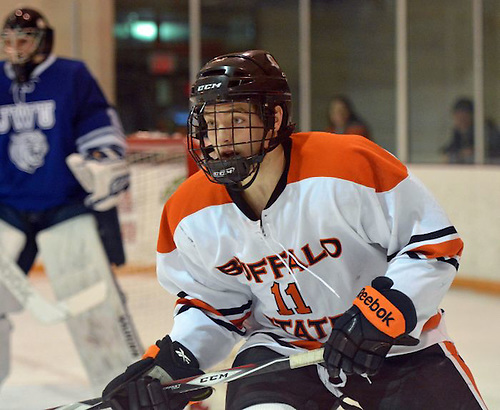 Jason Zaleski of Buffalo State made the SUNYAC All-Rookie Team this season (photo: Dan Hickling).