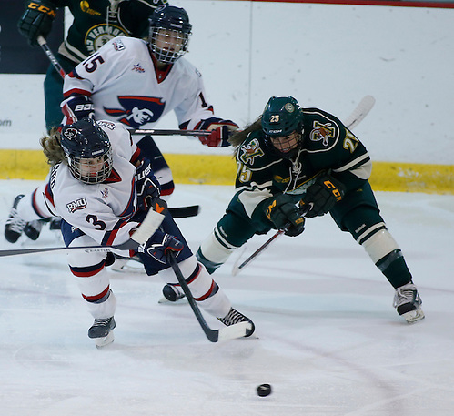 RMU womens hockey.  Photo by Jason Cohn (JASON COHN/RMU ASSIGNED)