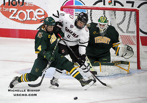 Omaha and Vermont skated to a 4-4 tie Friday night at Baxter Arena.  (Photo by Michelle Bishop) (Michelle Bishop)