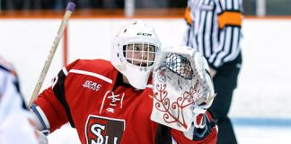 Grace Harrison (St. Lawrence - 29) made 27 saves and improved to 8-0-1. ((c) Shelley M. Szwast 2016)