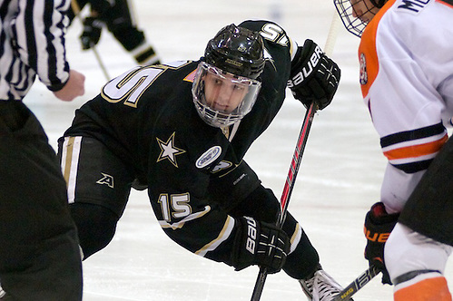 Clint Carlisle (Army, 15) - RIT defeated Army 4-3 on Jan 18, 2014 in Rochester, NY (Omar Phillips)