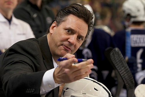 28 Feb 14: Guy Gadowski (Penn State - Head Coach). The University of Minnesota Golden Gophers host the Penn State Nittany Lions in a B1G Conference matchup at Mariucci Arena in Minneapolis, MN (Jim Rosvold)