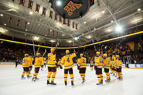 04 Feb 17:  The University of Minnesota Golden Gophers host the Penn State Nittany Lions in a B1G matchup at Mariucci Arena in Minneapolis, MN (Jim Rosvold)