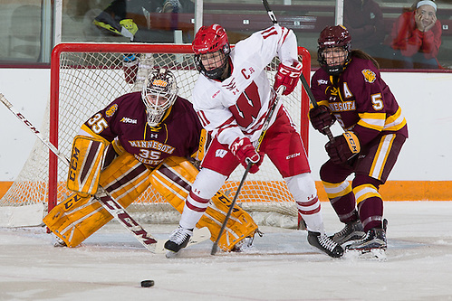 5 Mar 17:  The University of Wisconsin Badgers play against the University of Minnesota Duluth Bulldogs in the 2017 WCHA Final Face-Off Championship Game at Ridder Arena in Minneapolis, MN. (Jim Rosvold)