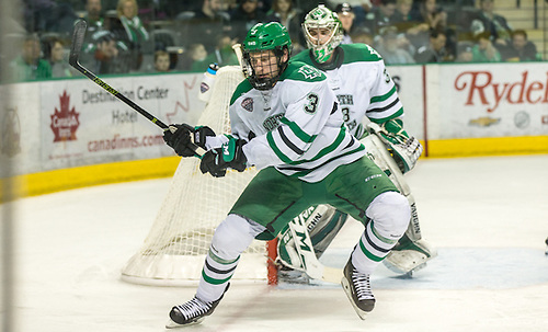 Tucker Poolman (North Dakota-3) 16 Mar.11 University of North Dakota and Colorado College meet in a NCHC playoff conference match-up at the Ralph Engelstad Arena in Grand Forks, ND (Bradley K. Olson)