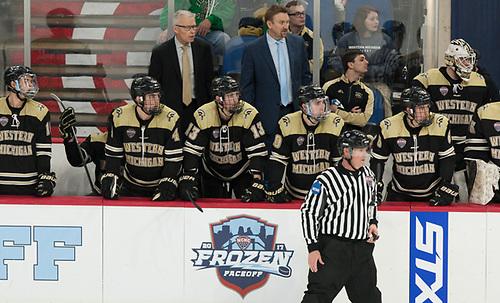 Andy Murray WMU Head Coach 17 March 17 Western Michigan and University of Minnesota Duluth meet in the semi finals of the NCHC Frozen Face Off at the Target Center Minneapolis, MN (Bradley K. Olson)