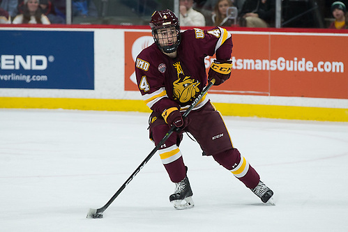 28 Jan 17: Neal Pionk (Minnesota Duluth - 4). The University of Minnesota Duluth Bulldogs play against the St. Cloud State University Huskies in the Championship game of the North Star College Cup at the Xcel Energy Center in St. Paul, MN. (Jim Rosvold)