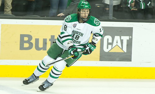 Chris Wilkie (North Dakota-18) 16 October 8 Canisius and University of North Dakota meet in a non conference contest at the Ralph Engelstad Arena in Grand Forks, ND (Bradley K. Olson)