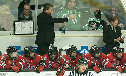 Coach Seth Appert 16 October 15 RPI and University of North Dakota meet in a non conference contest at the Ralph Engelstad Arena in Grand Forks, ND (Bradley K. Olson)