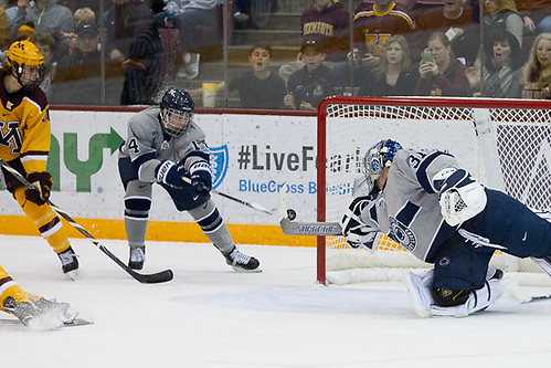 13 Oct 17:  The University of Minnesota Golden Gophers host the Penn State University Nittany Lions in a B1G matchup at 3M Arena at Mariucci in Minneapolis, MN. (Jim Rosvold/USCHO.com)
