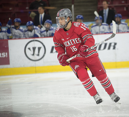 Matthew Weis of Ohio State,  Air Force vs. Ohio State, Icebreaker Tournament, 10/08/16, Denver, Colorado (Candace Horgan)
