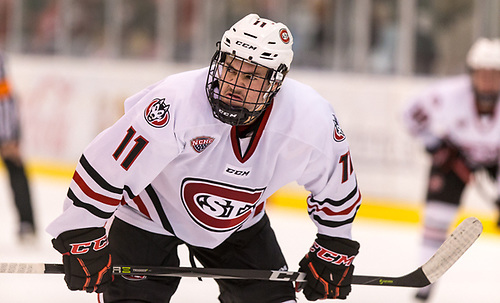 Ryan Poehling (SCSU-11) 2017 Nov. 17 St. Cloud State University hosts Colorado College in a NCHC game at the Herb Brooks National Hockey Center St. Cloud (Bradley K. Olson)
