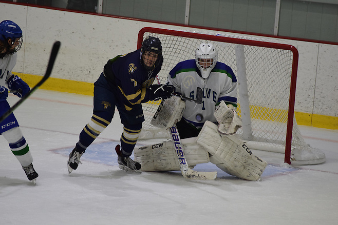 Salve Regina goaltender Blake Wojtala has the Seahawks focused on a good start in conference play (Ed Habershaw)