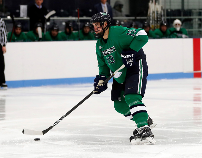 Endicott defenseman Logan Day (Tim Brule)
