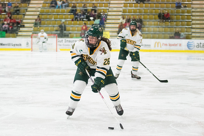 Ève-Audrey Picard of Vermont. Vermont Catamounts at Gutterson Field House on Saturday afternoon October 22, 2016 in Burlington, Vermont. (Brian Jenkins)
