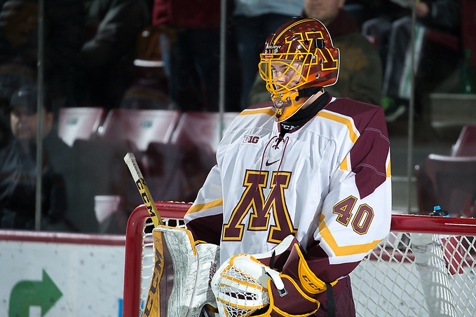 26 Jan 18: The University of Minnesota Golden Gophers host the University of Notre Dame Fighting Irish in a B1G matchup at 3M Arena at Mariucci in Minneapolis, MN. (Jim Rosvold/USCHO.com)