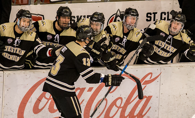 2018 Jan. 12 The St.Cloud State University Huskies host Western Michigan in a NCHC matchup at the Herb Brooks National Hockey Center in St. Cloud, MN (Bradley K. Olson)