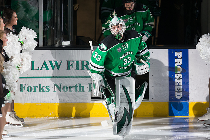 Cam Johnson (North Dakota-33)2018 Jan. 27 The University of North Dakota hosts Denver University in a NCHC matchup at the Ralph Engelstad Arena in Grand Forks, ND (Bradley K. Olson)