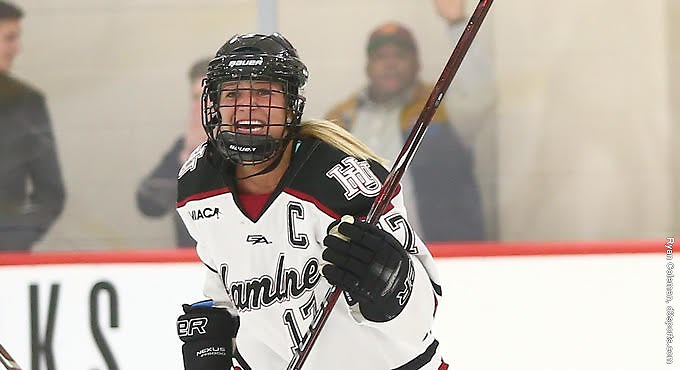 Sarah Bobrowski of Hamline (Hamline Athletics)