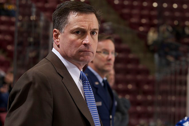 30 Dec 12: Frank Serratore (Air Force - Head Coach). The University of Alabama-Huntsville Chargers play against the Air Force Falcons in the Mariucci Classic in Minneapolis, MN. (Jim Rosvold)