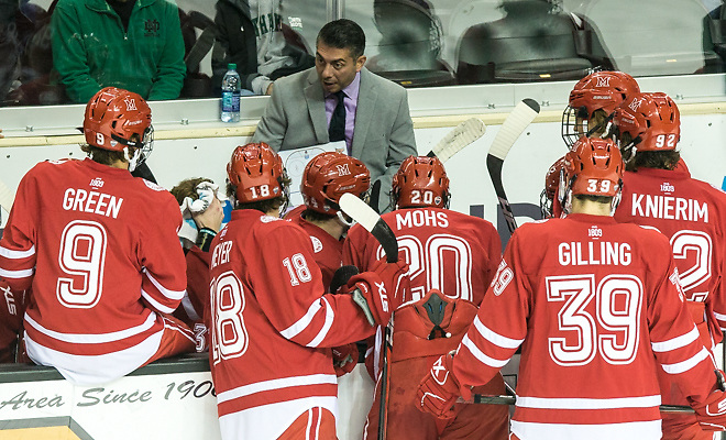 Enrico Blasi 2017 Nov. 11 The University of North Dakota hosts Miami of Ohio in a NCHC matchup at the Ralph Engelstad Arena in Grand Forks, ND (Bradley K. Olson)