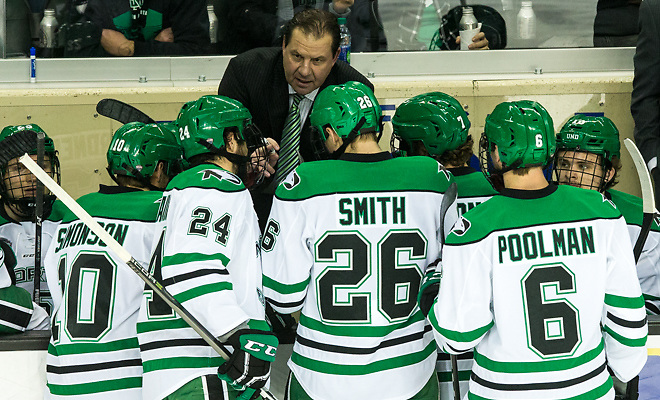 Head Coach: Brad Berry 2017 Nov. 11 The University of North Dakota hosts Miami of Ohio in a NCHC matchup at the Ralph Engelstad Arena in Grand Forks, ND (Bradley K. Olson)
