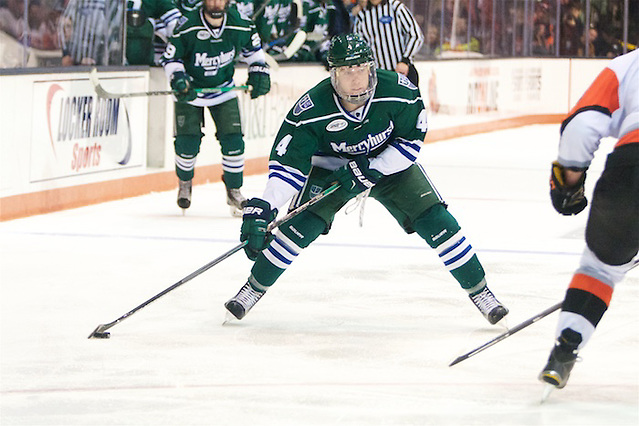 Lester Lancaster (4 - Mercyhurst) had a goal in a 4-3 win over RIT (Omar Phillips)