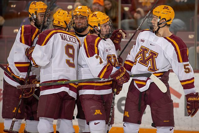 20 Oct 18:  The University of Minnesota Golden Gophers host the Trinity Western University  Spartans in an exhibition matchup at 3M Arena at Mariucci in Minneapolis, MN.  Photo: Jim Rosvold/University of Minnesota (Jim Rosvold/University of Minnesota)