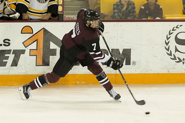 6 Oct 17: Brandon Estes (Union - 7). The Union College Dutchmen play against Michigan Technological University Huskies in the 2017 Icebreaker Tournament at Amsoil Arena in Duluth, MN. (Jim Rosvold/USCHO.com)