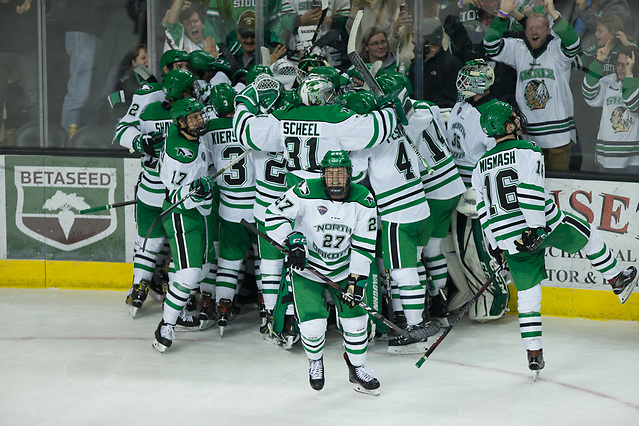 2018 November 3 The University of North Dakota hosts the Wisconsin Badgers in a non conference matchup at the Ralph Engelstad Arena in Grand Forks, ND (Bradley K. Olson)