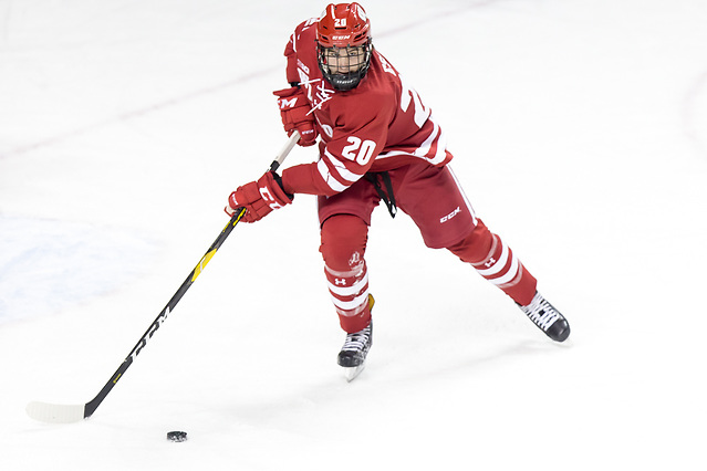 Josh Ess (Wisconsin -20) 2018 November 3 The University of North Dakota hosts the Wisconsin Badgers in a non conference matchup at the Ralph Engelstad Arena in Grand Forks, ND (Bradley K. Olson)