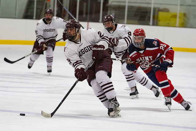 Augsburg Hockey vs St. Mary's 11-16-2018 Alex Rodriguez of Augsburg (Kevin Healy/Photo by Kevin Healy for Augsburg)