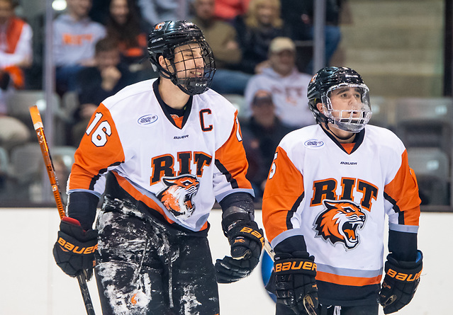 Erik Brown (16 - RIT), Dan Willett (5 - RIT) (2018 Omar Phillips)