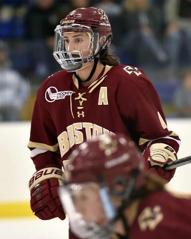 Megan Keller of Boston College (Boston College Athletics/Jason Eggleston)