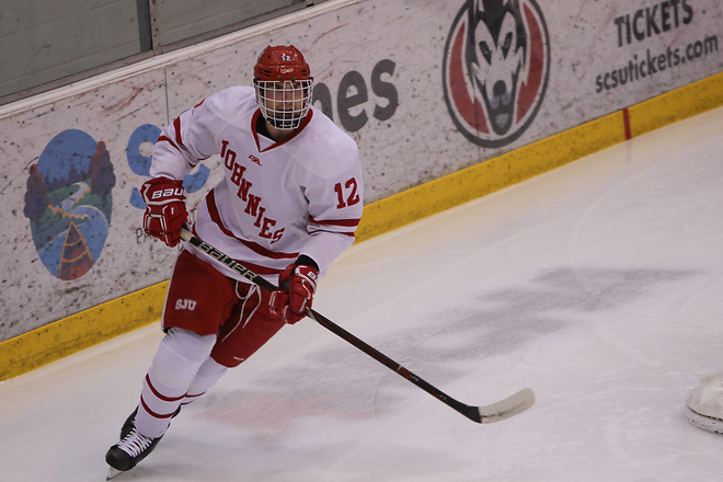 Robb Stautz (12) of Saint John's. (Jennifer McNelly - Saint John's University)