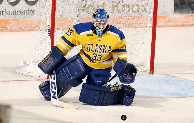 SIMON FRASER UNIVERSITY HOCKEY V UAF NANOOK HOCKEY. Nanooks score fast and often; lead SFU 5-0 in 1st period. Alaska leads 7-0 mid 2nd period . 9-0 at the end of 2 periods (Paul H. McCarthy/Paul H. McCarthy photo: Paul McCarthy)