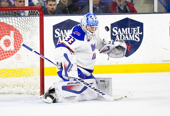 LOWELL, MA - FEBRUARY 8: NCAA hockey at the Tsongas Center between the UMass-Lowell River Hawks and the Boston College Eagles on February 8, 2019 in Lowell, Massachusetts. (Photo by Rich Gagnon) (Rich Gagnon)